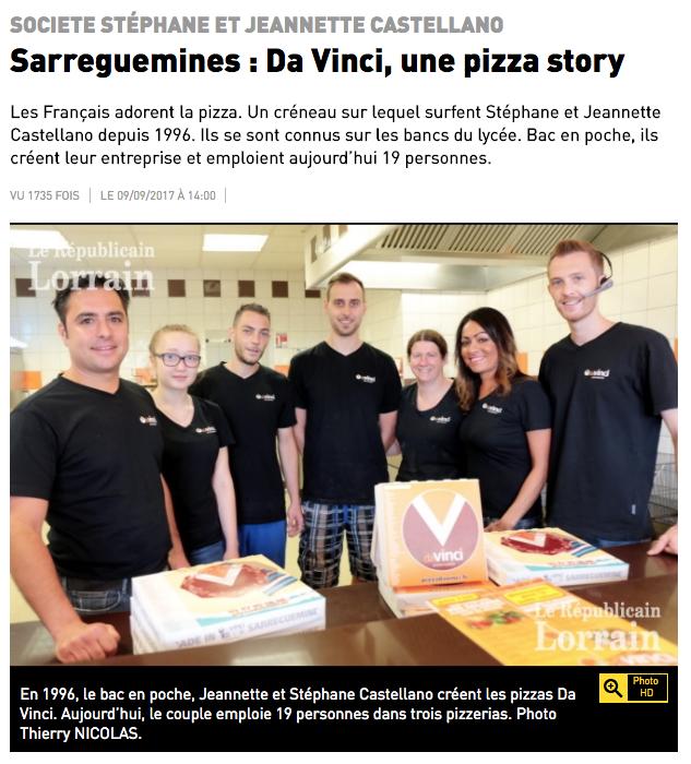 l'équipe de la pizzeria daVinci