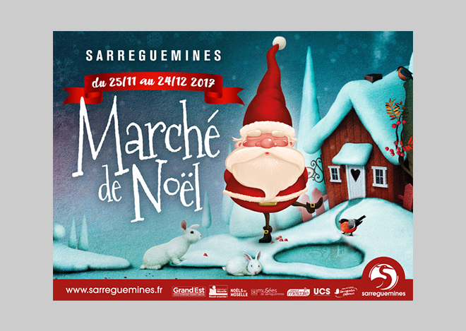 Creation Visuel Noel Ville de Sarreguemines