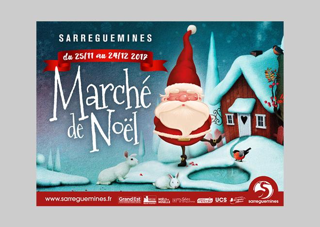 Creation Visuel Noel Ville de Sarreguemines